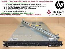 HP DL360 G7 2x E5620 128 Go P410i 1x adaptateur à Quatre Ports DVD 2x 460 W 1U serveur rack