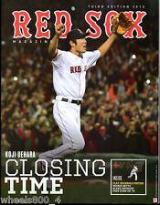 2015 Boston Red Sox Magazine Program 3rd Edition Koji Uehara + B Strong Patch