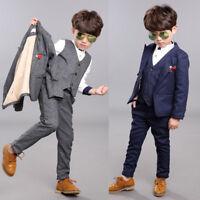 3 Piece Boys Children Wedding Groom Tuxedos Kid's Formal Party Graduation Suits