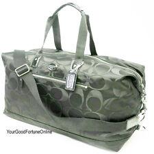 NWT Coach XL Duffel Silver Packable Weekend Nylon Overnight Travel Gym Bag 77469
