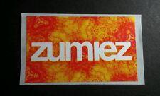 ZUMIEZ ORANGE YELLOW FIRE FLAME TONE BIOHAZARD SYMBOLS 2x3 MUSIC STICKER