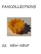 LEGO X 2 - Bright Light Orange Friends Accessories Cupcake Holder - 93082g  NEUF