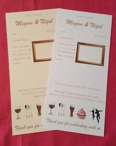 PERSONALISED WEDDING ADVICE CARDS Bride & Groom Alternative to Guest Book