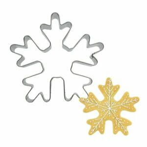 1pcs Stainless Steel Christmas Snowflake Shape Cookies Cutter Pastry Tool