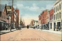 Waverly NY East Broad St. c1910 Postcard