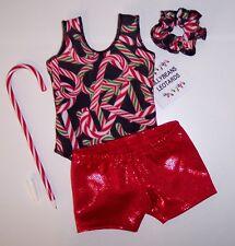 "3 piece Set Gymnastics Dance Leotard to fit 18"" American Girl Dolls + Gift"