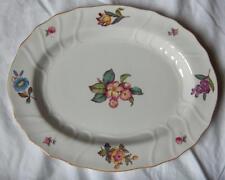 Spode fine china lg oval serving platter~pttn Y6575~English florals~gold rim-NR