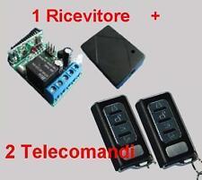 Ricevitore radio 1 Rele + 2 Trasmettitori H 433MHz telecomando cancelli serrande