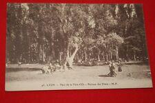 LYON PARC DE LA TETE D'OR PELOUSE DES EBATS 1924 RHONE ALPES EDITION MF N°95