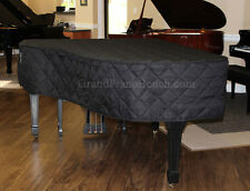 Yamaha C5 6'7 Piano Cover - QUILTED BLACK MACKINTOSH - Heavy Duty USA Made