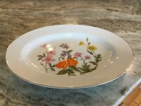 "Wild Flower by Fine China of Japan 12"" OVAL SERVING PLATTER, Discontinued"