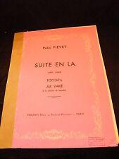 Partition Suite en La pour piano Toccata Air varié Fiévet Grand Format