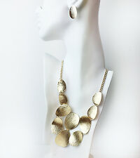 """16"""" Plated base metal and Lobster clasp necklace - OVIFORM BIB  NECKLACE"""