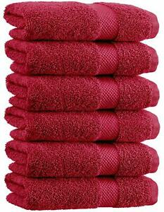 White Classic Luxury Hand Towels - Soft Circlet Egyptian Cotton | Highly Absorbe