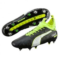 Puma Mens evoTOUCH PRO Mx SG Football Boots - Size 9 - Black/Yellow - New In Box