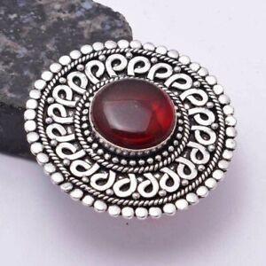 Garnet Ethnic Handmade Ring Jewelry US Size-11 AR 40407