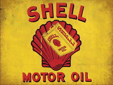 SHELL OLIO MOTORE VINTAGE METAL SIGN GARAGE: man-cave: Home Decor, regalo ideale N. 2