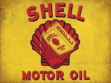 SHELL MOTOR OIL VINTAGE METAL SIGN GARAGE:MAN-CAVE:HOME DECOR: IDEAL GIFT NO 2