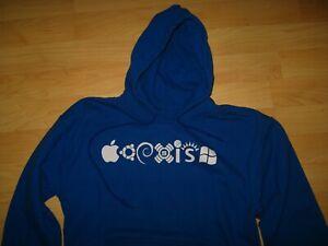 Coexist Techie Blue Hoodie Sweatshirt Medium - Iconic Technology Internet Shirt