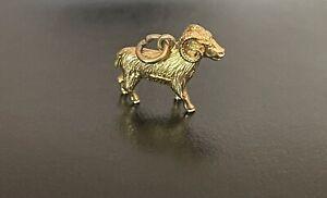 9ct Gold Vintage Ram Aries Charm