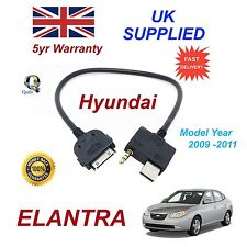For Hyundai Elantra iPhone 3 3gs 4 4S iPod USB & Aux Audio Cable MY 2009-11