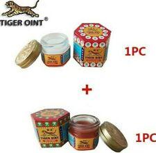 2 Pots baume tiger oint rouge/blanc 20g  25% de camphre