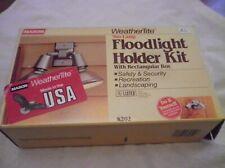 Mason WeatherTite Two Lamp Floodlight Holder Kit K202 Vtg 80s Nib Made in Usa