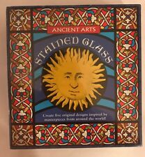 """Stained Glass craft set / Ancient Arts / New, sealed 5 """"leaded"""" window designs"""