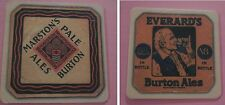 Marston's Pale Ale - Everard's Burton Ales - New Coaster / Beer Mat from the UK