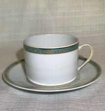 New Bernardaud Limoges France Antinea Vert Tea Cup Saucer Plate Set(s) Porcelain