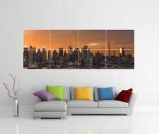 NEW YORK SKYLINE SUNSET PANORAMIC PANORAMA GIANT WALL ART PHOTO POSTER J135