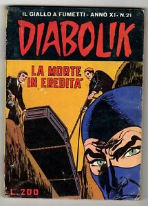 Diabolik anno XI n°21 - La morte in eredità