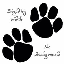 Cat Decal 2 Pack Set - Paw Print Stickers - Choose Color & Size