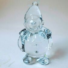 Clown Figurine Clear Crystal Glass Heavy Paperweight Gift 4.5""