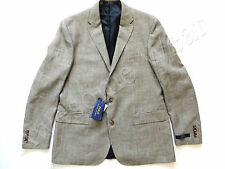 New Ralph Lauren Polo Flax & Wool Black White Houndstooth Sport Coat Jacket 46 R
