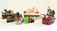 Christmas Ornament Lot Snowman Sled Santa Bathtub Angel Violin Cat Salmon Gift