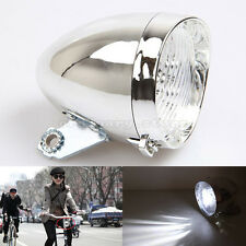 Cycling Retro Bicycle Bike Front Light Bracket Vintage 3 LED Fog Lamp Headlight
