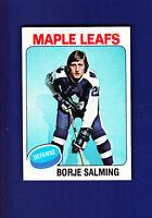 Borje Salming HOF 1975-76 TOPPS Hockey #283 (EXMT) Toronto Maple Leafs