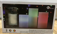 Flameless LED Candles Rainbow Colour Changing Remote Control & Timer