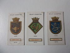 W.D.&H.O.Wills (Ships'badges) x 3   (*Q)