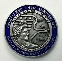 NASA Apollo 17 Silver Limited Edition Flown Medallion