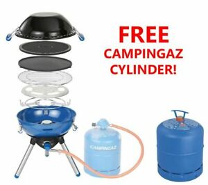 Campingaz Party Grill 400 BBQ Barbecue Portable Stove Plus Free 907 Cylinder