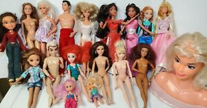 Lot of 15+ Barbie, Disney Princess and Similar Fashion Dolls