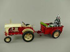 Voiture en Tôle Ancienne Tracteur Rouge Noël Cadeaux Nostalgie Déco Rétro Modèle