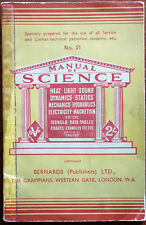 """Manual Of Science No. 21 Compiled by """"Factus"""". Bernards (Publishers) Ltd. Book"""