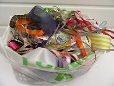 Small or Large bag of off cut ribbon offcuts scrap assorted bits UK VAT Reg
