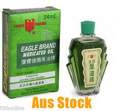 2 x Eagle Brand 24ml Medicated Oil Liniment for Muscular Aches Pains Relief
