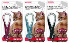 Beaphar Velvet Soft Cat Flea Collar 1 Year Protection 3 Colours With Bell 17805