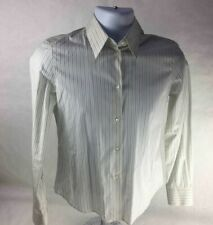 Loro Piana Mens Button-Front Shirt Yellow Blue Striped Long Sleeves Cotton 42