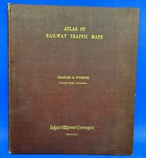 Antique 1917 Atlas of Railway Traffic Maps - Charles E Wymond - Central Freight